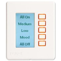 Evolve Z-Wave Wall Mounted 5-Button LCD Controller