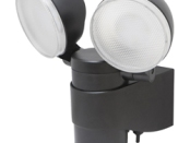 Maxsa Battery-Powered Motion-Activated Dual Head LED Security Spotlight