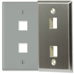 On-Q Keystone Wall Plates/Inserts